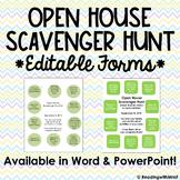 Open House Scavenger Hunt (Editable)