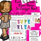 Back to School / Open House Scavenger Hunt