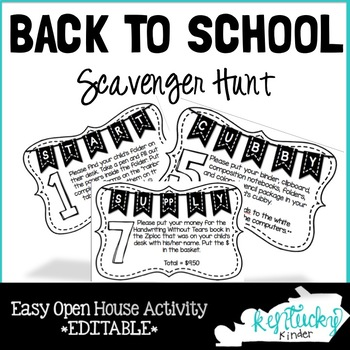 Open House Scavenger Hunt EDITABLE