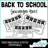 Open House Scavenger Hunt EDITABLE