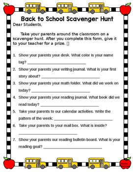 Open House Scavenger Hunt (Editable)