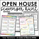 Editable Open House Scavenger Hunt | Back to School Scavenger Hunt