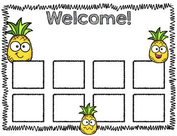 Open House Scavenger Hunt Templates: Pineapples