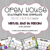 Open House Scavenger Hunt Templates: School Supplies