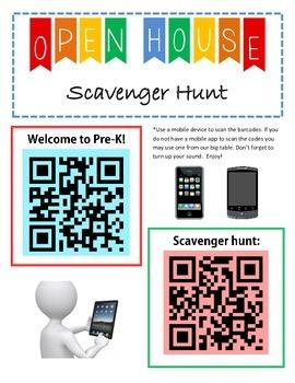 Open House Scavenger Hunt for Pre-K Beginner