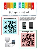Open House Scavenger Hunt for Pre-K Long