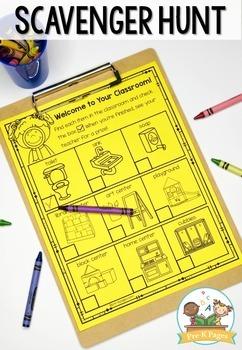 Open House Scavenger Hunt for Preschool