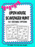 Open House Scavenger Hunt {w/ Editable Option}