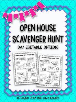 Open House Scavenger Hunt {w/ Editable Option}