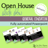 Open House Science Slide Show (powerpoint, editable)