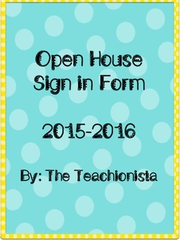Open House Sign In Form