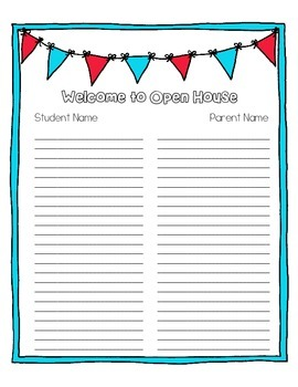 Open House Sign In Forms