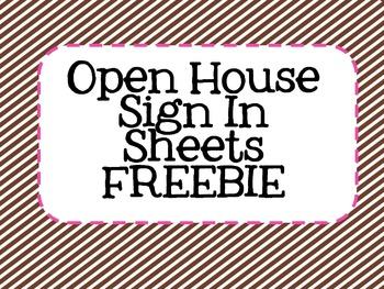 Open House Sign In Sheet Freebie