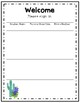 Cactus and Bluebonnet Open House Sign In Sheet