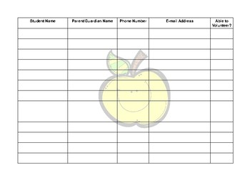 Open House Sign In Sheet Apple Theme