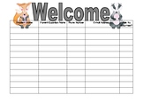 Open House Sign In Sheet Fox Badger Theme