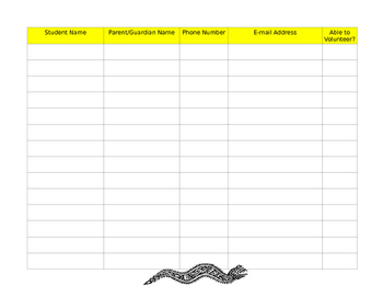 Open House Sign In Sheet Mexican Art Theme