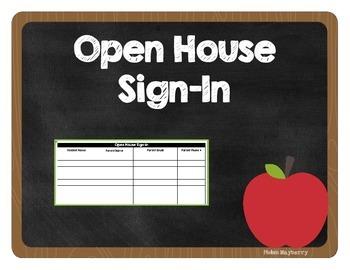 Open House Sign In Sheet Spreadsheet