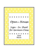 Open House ~ Sign-In Sheet for German Class