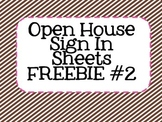 Open House Sign In Sheets FREEBIE #2