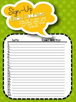 {Open House} Sign-Up Sheet Kit