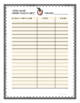 Open House Sign in Sheet for Back to School or Beginning of the Year