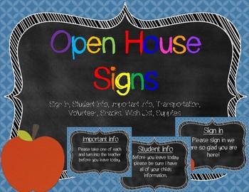 Meet the Teacher Blue Signs