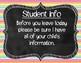 Meet the Teacher Rainbow Stripes Signs