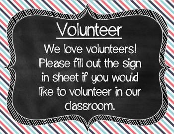 Meet the Teacher Stripe Signs