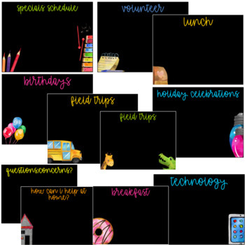 Open House- Back to School  (Editable)
