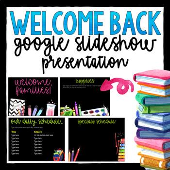 Open House- Back to School  Slideshow- Editable