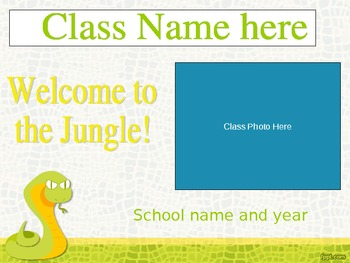 Open House Slideshow - Snake Jungle Theme