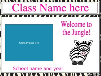 Open House Slideshow - Zebra Theme