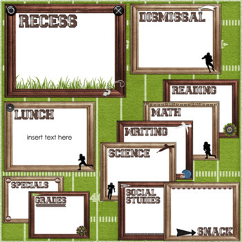Open House Slideshow | with Editable Pages| Football Classroom Decor