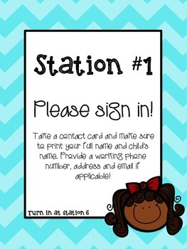Open House Station Signs