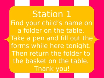 Open House Station Signs {FREE!!!}