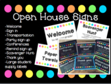 Editable Open House Station Signs