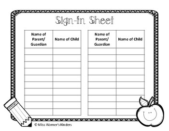 EDITABLE Open House Stations & Printable Forms