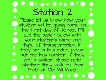 Open House Stations- Polka Dots- FREEBIE!!!