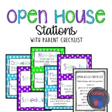 Open House Stations with Parent Checklist