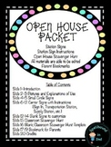 Open House Stations with Scavenger Hunt and Parent Bookmark
