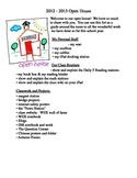 Open House Student Checklist - **Editable!