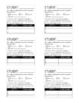 Open House Student Name and Important Information Stickies