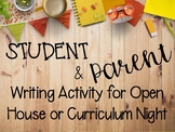 Open House Student and Parent Letter Writing Activity