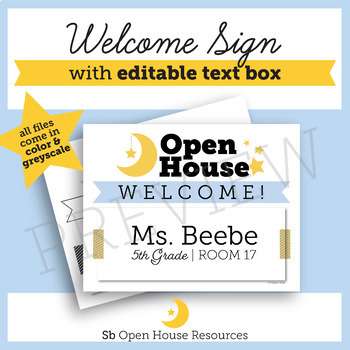 Open House Supplementary Resources // Welcome Sign, Letter from Teacher, & MORE!