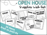 Open House Supply Wish List