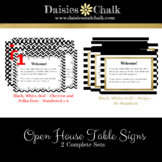 Open House Table Signs