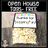 Open House Tags for Treats Free