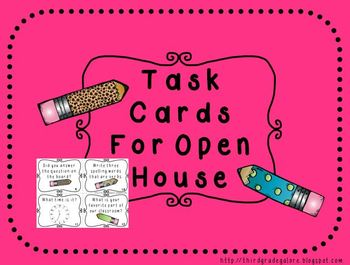 Open House Task Cards