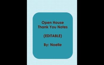Open House Thank You Notes
